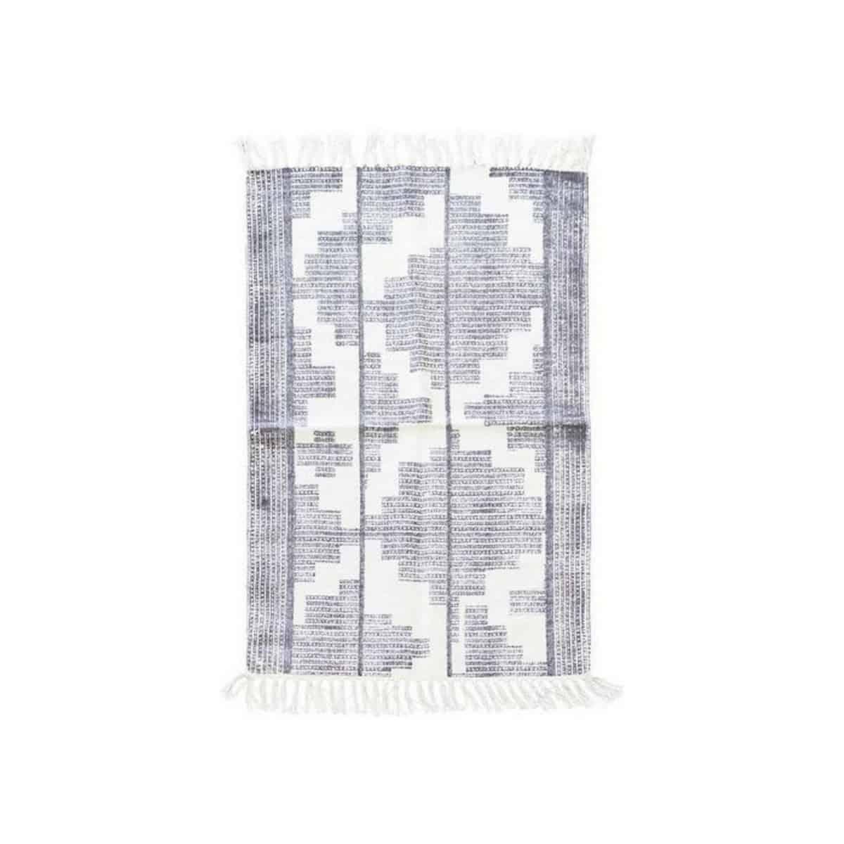 Katoen vloerkleed housedoctor katoen grijs wit 60x90 for House doctor vloerkleed