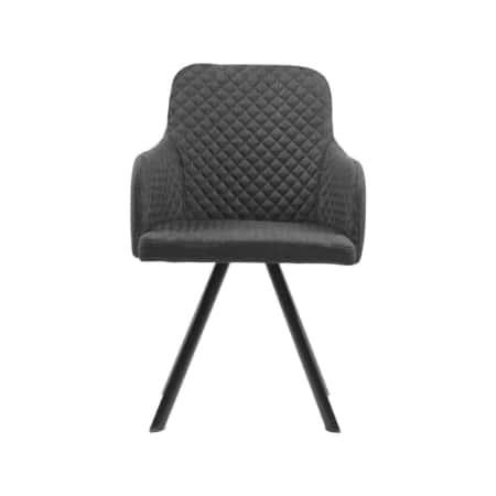 Eetkamerstoel Tigo is een stijlvolle aanwinst voor in de eetkamer. De stoel heeft een mooie strakke vormgeving. Het diamantpatroon op de stoffen zitting en aan de binnenkant van de rugleuning geven de stoel een chique uitstraling.