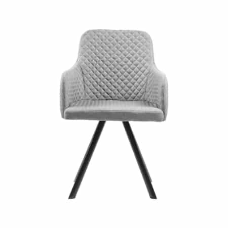 Eetkamerstoel Tigo is een stijlvolle aanwinst voor in de eetkamer. De stoel heeft een mooie strakke vormgeving. Het diamantpatroon op de stoffen zitting en aan de binnenkant van de rugleuning geven de stoel een chique uitstraling
