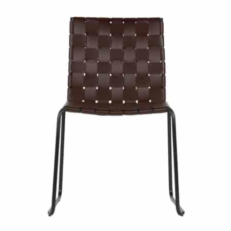 Nieuw in de collectie van BePureHome: de Icon eetkamerstoelen. Deze lichtvoetige stoelen hebben een zitting en rugleuning van gevlochten gerecycled leer.
