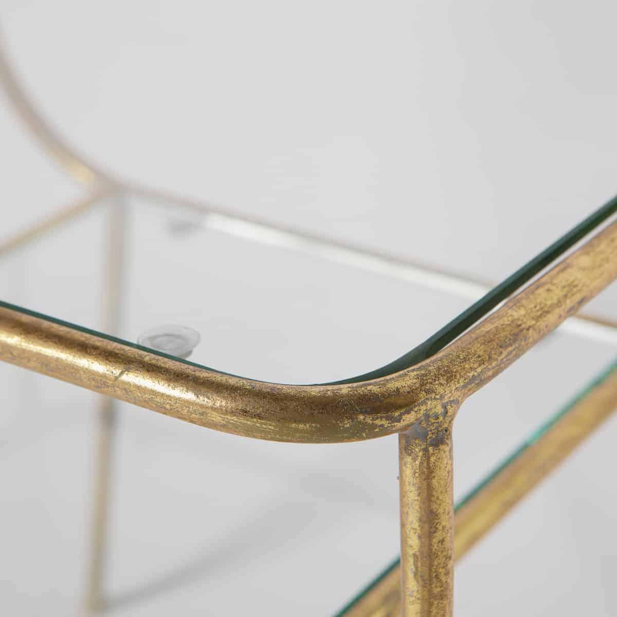 Bijzettafel Metaal Glas.Antique Bijzettafel Bepurehome Amazing Metaal Glas Antique Brass