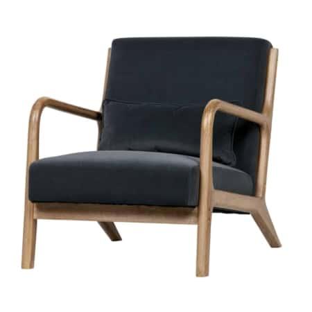 Fauteuil Mark van het interieurmerk WOOOD is een prachtige slanke fauteuil die bijzonder goed zal staan in elke stijl interieur.