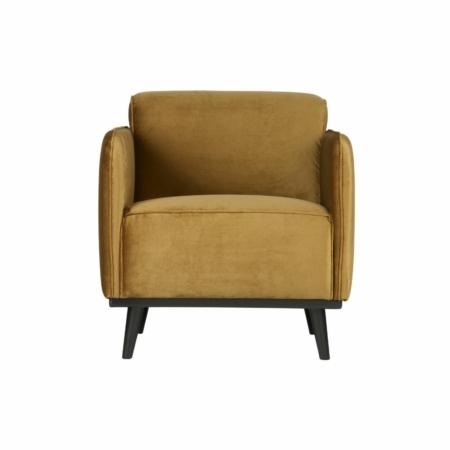 BePureHome Statement fauteuil met arm fluweel honing geel