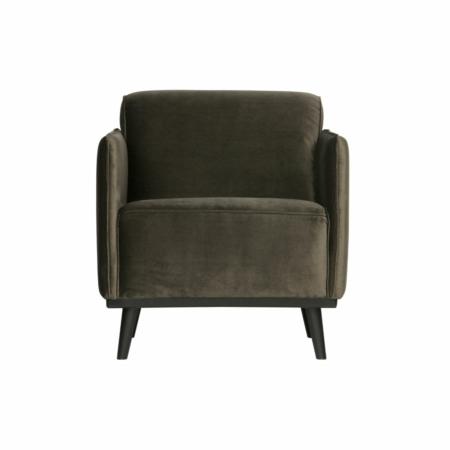 BePureHome Statement fauteuil met arm fluweel warm groen