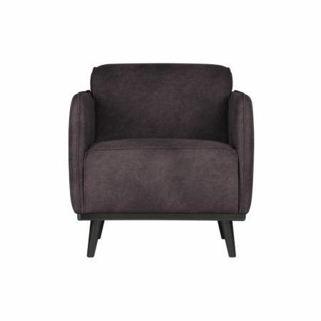 BePureHome Statement fauteuil met arm eco leer grijs