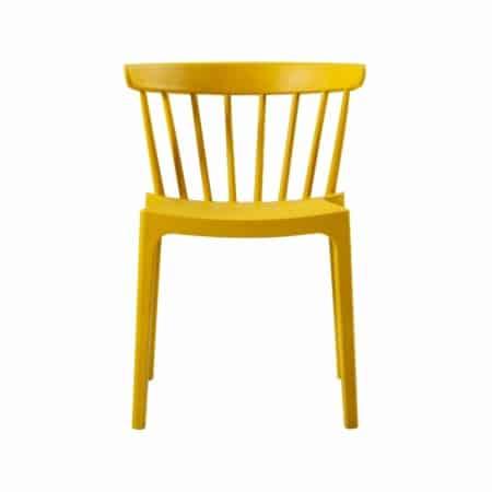 WOOOD Bliss spijlenstoel kunststof oker geel