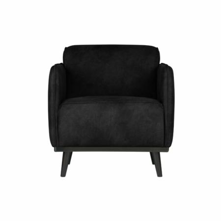 BePureHome Statement fauteuil met arm suedine zwart