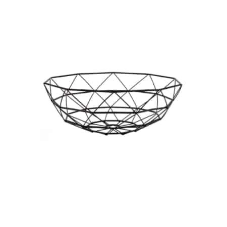 Deze schaal Diamond Cut van Pt, (Present Time) is stoer grafisch vormgegeven en past perfect in een stoer interieur.