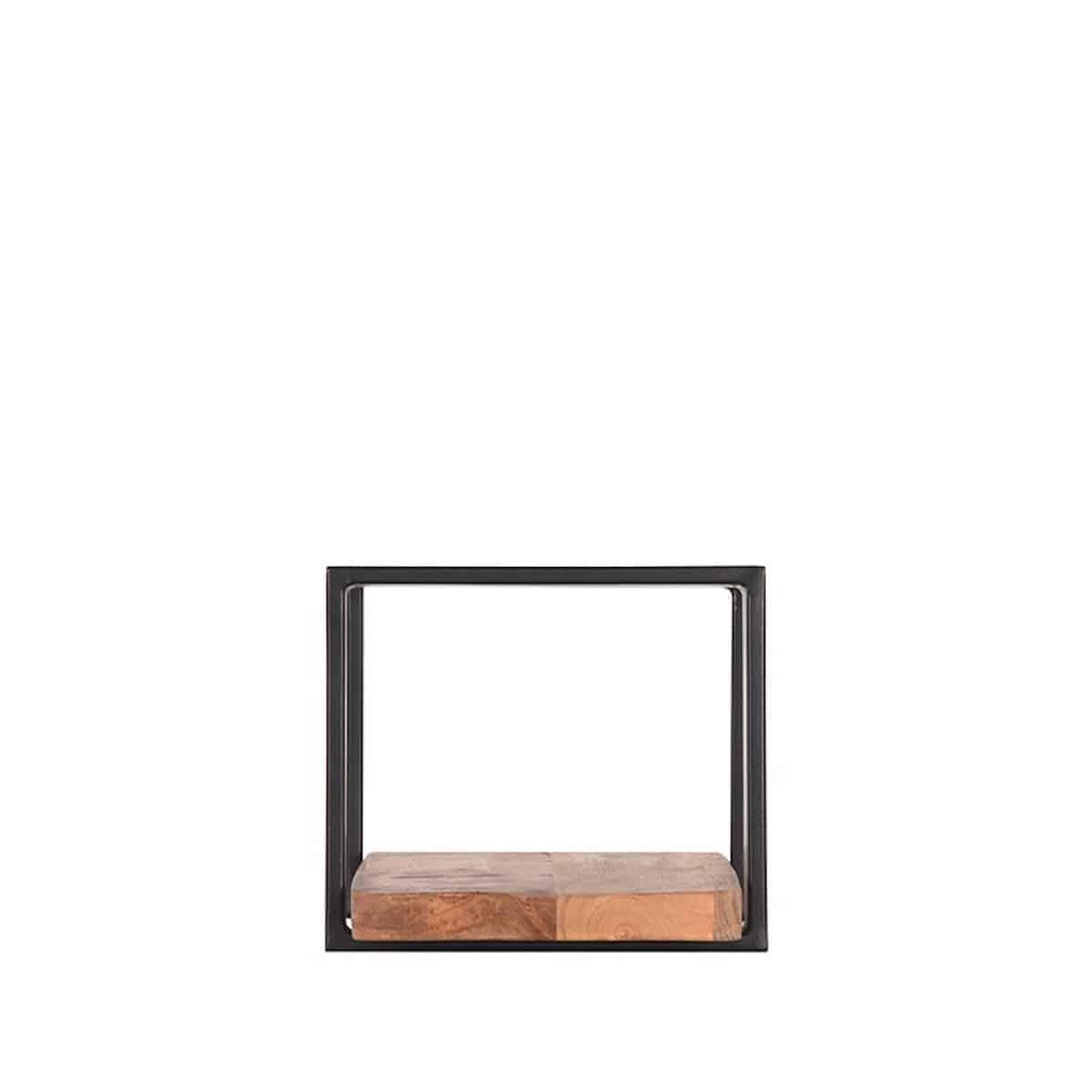 Wandplank Zwart Metaal Hout.Industriele Wandplank Label51 Slam Mango Hout Metaal Zwart