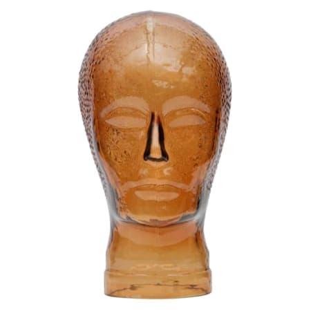 Dit glazen hoofd Elvis in de kleur oranje uit de WOOOD collectie brengt al het goede van de Seventies weer helemaal terug.