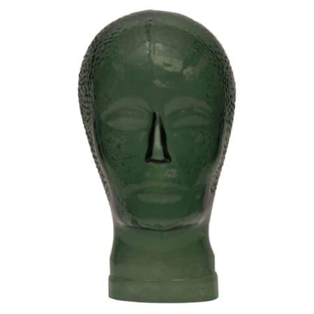 Dit glazen hoofd Elvis in de kleur warm groen uit de WOOOD collectie brengt al het goede van de Seventies weer helemaal terug.