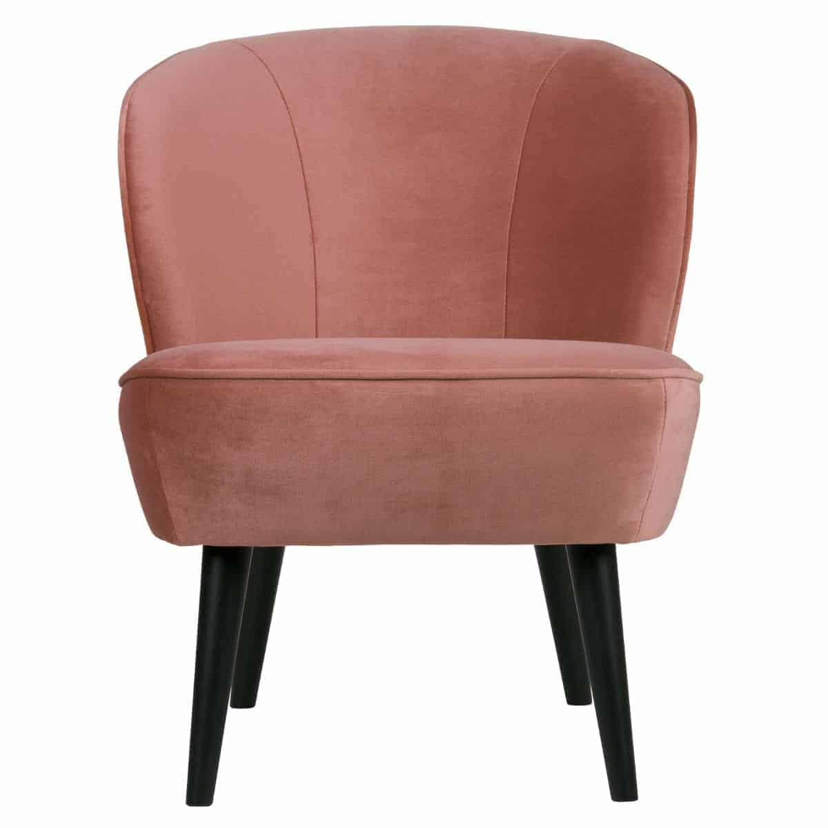Nieuw Retro fauteuil   WOOOD Sara fauteuil fluweel oud roze YE-88