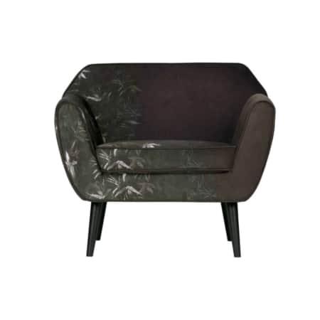 De WOOOD fauteuil Rocco is een prachtige fauteuil met zwart gelakte berkenhouten poten.