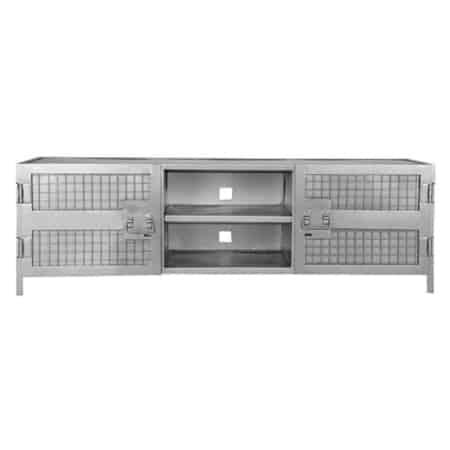 Tv-meubel Gate van LABEL51 is een ontzettend industrieel en robuust meubel gemaakt van puur en onbewerkt metaal