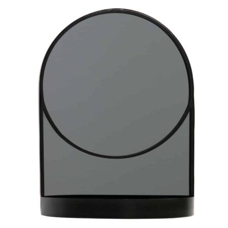 WOOOD Malik spiegel metaal zwart