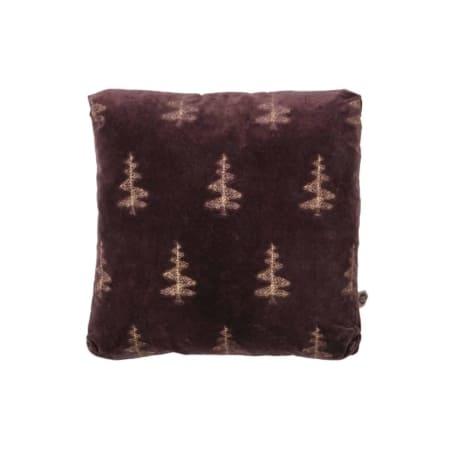 Het fluweelzachte kussen Forest behoort tot de nieuwe collectie van BePureHome. De voorkant van het Forest kussen heeft een geborduurd bomen patroon van gouddraad op een velvet stof van 100% katoen.
