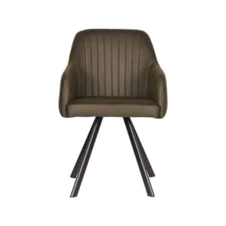 Industriële eetkamerstoel | Label51 Floor stoel metaal microvezel Tanny