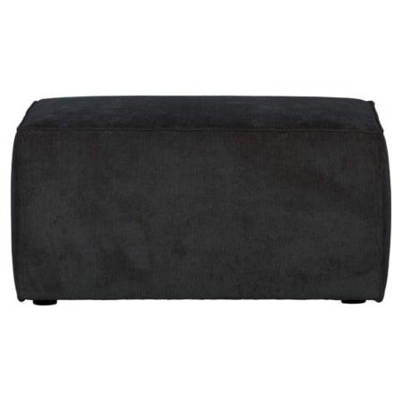 Hocker Lazy komt uit de collectie van het Nederlandse merk VTwonen. Deze hocker maakt de hoekbank Lazy compleet en is verkrijgbaar in de kleuren antraciet en khaki.