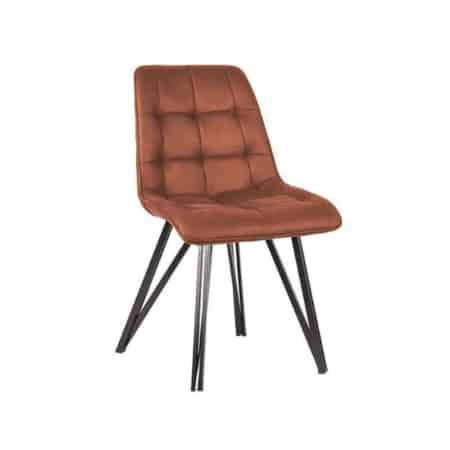 Eetkamerstoel Boaz van LABEL51 is een comfortabele stoel met een speels trendy onderstel,