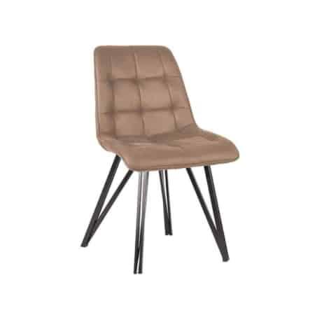 Eetkamerstoel Boaz van LABEL51 is een comfortabele stoel met een speels trendy onderstel