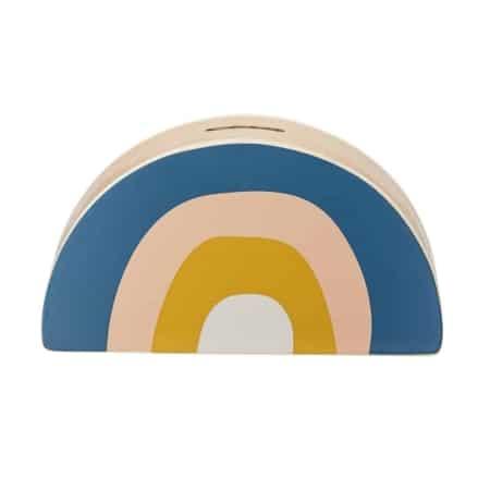 Deze regenboog spaarpot van het Scandinavische merk Bloomingville is ook zeker leuk als decoratie in de kinderkamer.