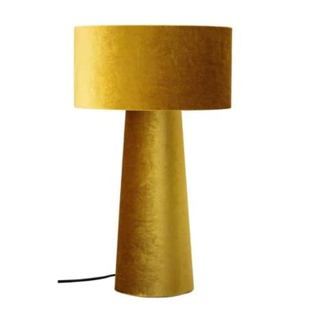 Deze tafellamp van het Deense merk Bloomingville is bekleed met een polyester velvet stof en is echt een eyecatcher!
