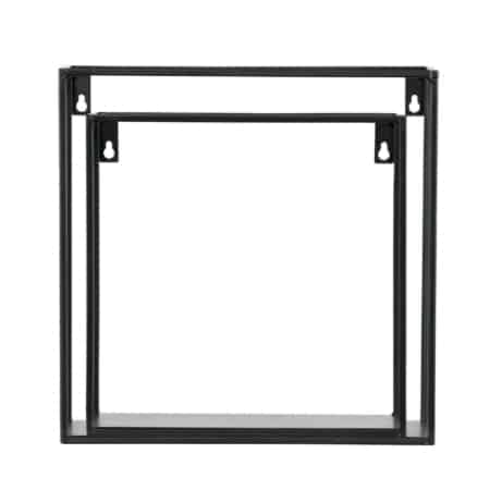 Met de zwart gelakte metalen wandrekjes Meert heb je twee trendy en eigentijdse wandrekjes in huis.