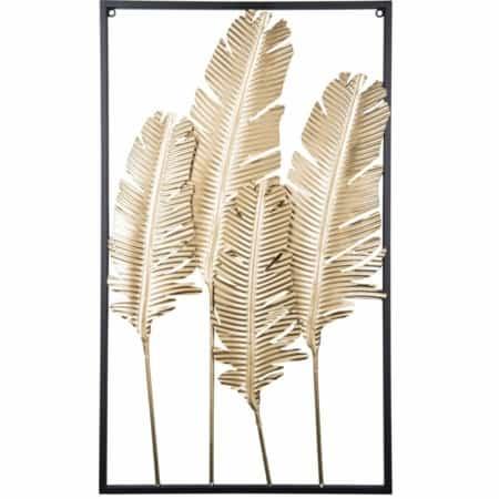 Dit prachtige kunstwerk Feathers van Present Time is gemaakt van stevig ijzer. Deze wanddecoratie met veren zal erg sfeervol staan aan de wand in iedere ruimte van uw huis!