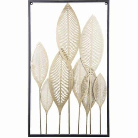 Dit prachtige kunstwerk Leaves van Present Time is gemaakt van stevig ijzer. Deze wanddecoratie met bladeren zal erg sfeervol staan aan de wand in iedere ruimte van uw huis!