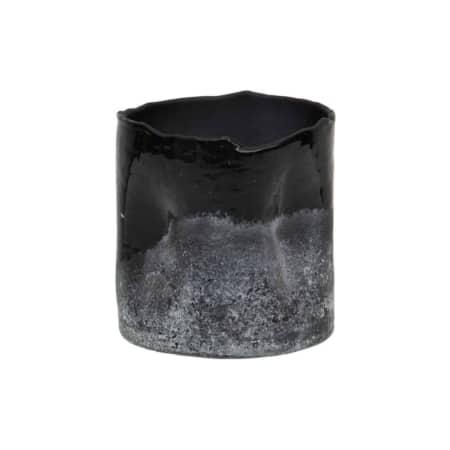 Frosted glazen waxinelicht komt uit de collectie van het Nederlandse merk BePureHome.