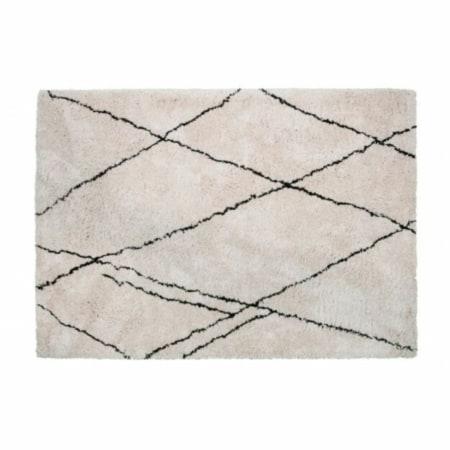 Vloerkleed Cleo komt van de collectie van het Nederlandse merk WOOOD en bestaat uit 90% PES en 10% katoen. Deze samenstelling zorgt ervoor dat het tapijt heerlijk zacht aanvoelt en vermindert bovendien de statische wrijving bij gebruik.