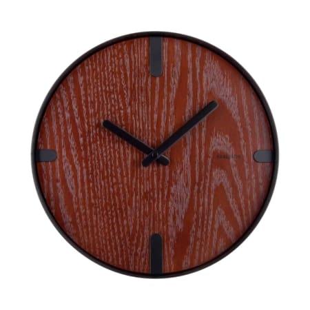 KARLSSON wandklok Dashed walnoot hout zwart ø30cm