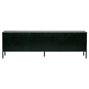 Het Tv meubel Gravure bruin essen hout met zwart grenen houten deuren [fsc] van het Nederlandse merk WOOOD Exclusive
