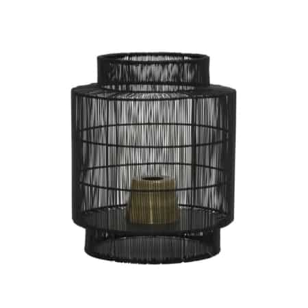 Door het gebruik van metaal geeft deze tafellamp je interieur een stoere en industriële look.