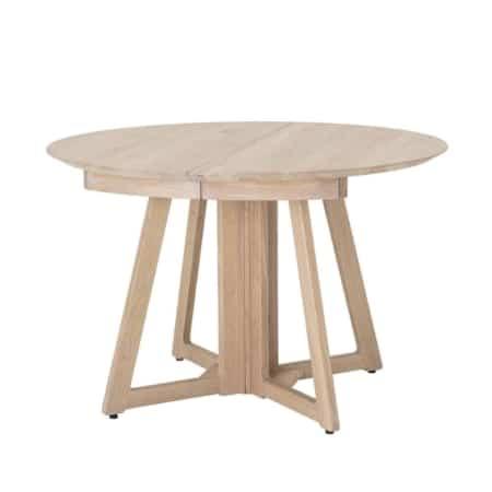 Deze tafel Owen van Bloomingville heeft een white wash olie
