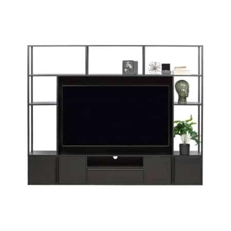 Dit moderne TV wandmeubel is een eigen ontwerp uit de collectie van het Nederlandse merk WOOOD.