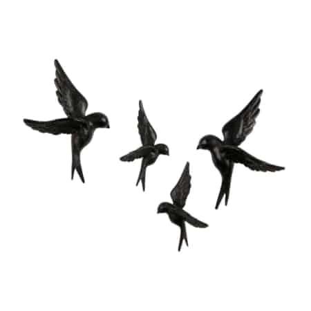 Avaler is een set van 4 zwat metalen vogels uit de nieuwe BePureHome collectie