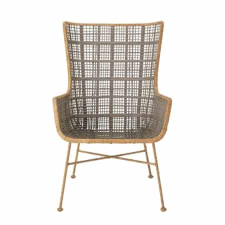 Deze mooie loungestoel is van het Scandinavische merk Bloomingville en is heerlijk om in te relaxen. De loungestoel is gemaakt van naturel en olijfgroen rotan.