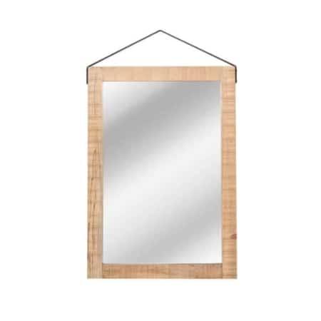 Deze spiegel van LABEL51 is een zeer robuuste, mango houten spiegel