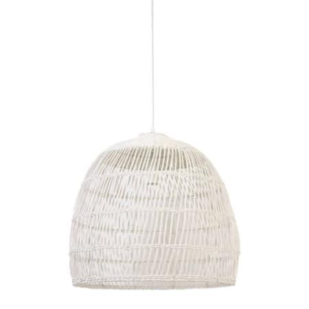 Deze witte hanglamp Evelie past in ieder interieur.