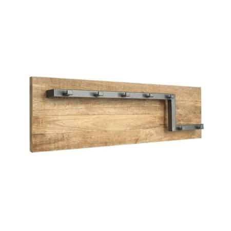 Kapstok Road L van LABEL51 is een functioneel item met een ontzettend gaaf design gemaakt van grof mangohout en solide metaal.