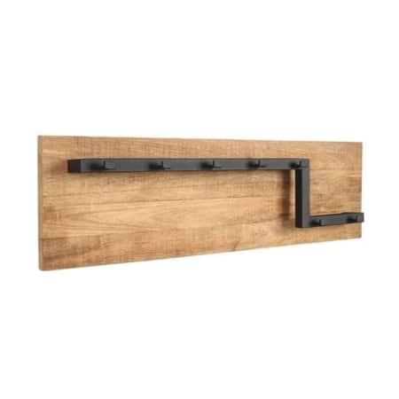 Kapstok Road L LABEL51 is een functioneel item met een ontzettend gaaf design gemaakt van grof mangohout en solide metaal.