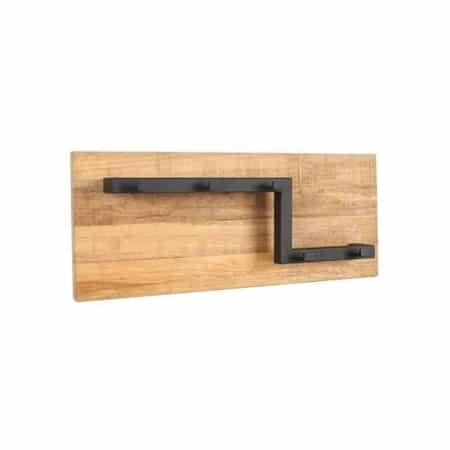 Kapstok Road M van LABEL51 is een functioneel item met een ontzettend gaaf design gemaakt van grof mangohout en solide metaal.