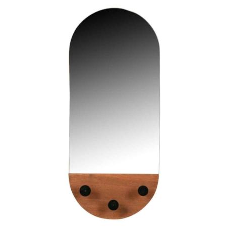 Praktisch en modern, dat is deze Tyler spiegel uit de collectie van het Nederlandse merk WOOOD.