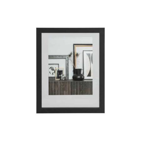 WOOOD Exclusive Blake fotolijst met houten rand zwart 50x40