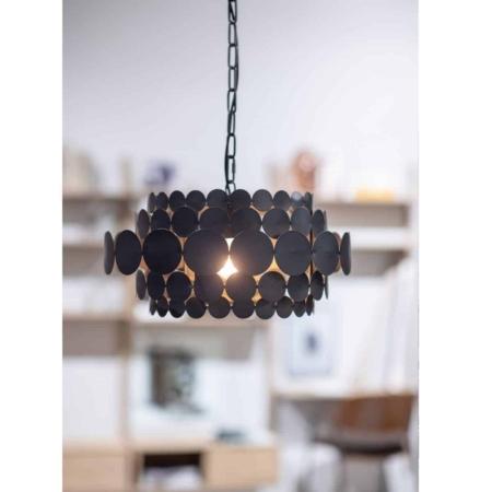BePureHome Kaki hanglamp metaal zwart
