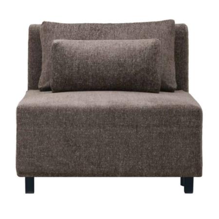 Dit element is een prachtige bank van House Doctor in een decadente donkerbruine kleur. De bank is te combineren met de andere elementen van House Doctor, maar je kunt hem ook los neerzetten als een fauteuil.