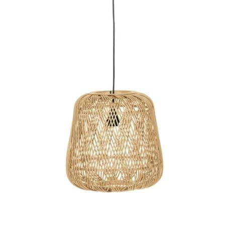Deze gevlochten hanglamp Moza komt uit de collectie van het Nederlandse WOOOD Exclusive en is vervaardigd uit bamboe
