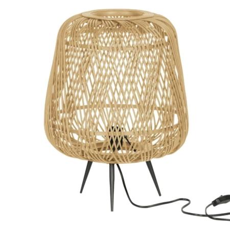 Deze gevlochten tafellamp Moza komt uit de collectie van het Nederlandse WOOOD Exclusive