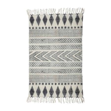Block van House Doctor is een modern vloerkleed met een leuk grafisch patroon in grijze en zwarte tinten.